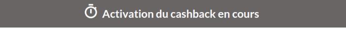 Activation Du Cashback En Cours Igraal